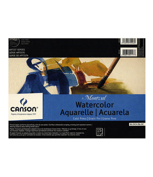 Canson Artist Series Montval Watercolor Blocks, Blocks, 15 Sheets (Various Sizes)