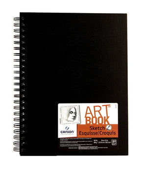 Canson Universal Art Book, Hardbound With An Elastic Closure (Various Sizes)
