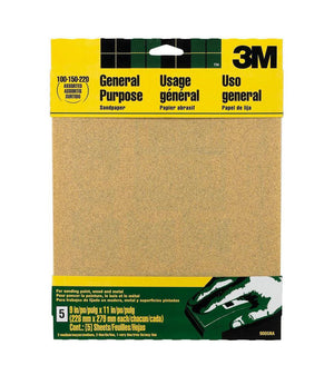 3M All Purpose Assorted Sandpaper Pack