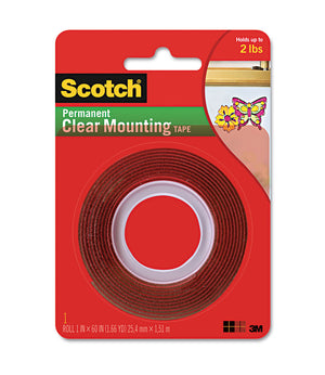 "3M Clear Foam Tape, 1""x 60"""