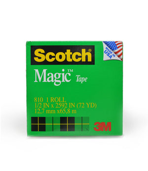 "810 Magic Tape 1/2"" Width, 72 Yards Length, 3"" Core"