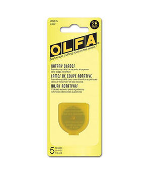 Olfa 28mm, Rotary Blade Refill (Pack of 2, 5, and 10)