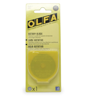 Olfa 45mm, Rotary Pack Refill (Pack of 2, 5, and 10)