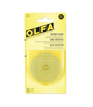Olfa 60mm, Rotary Pack Refill (Pack of 1 and 5)