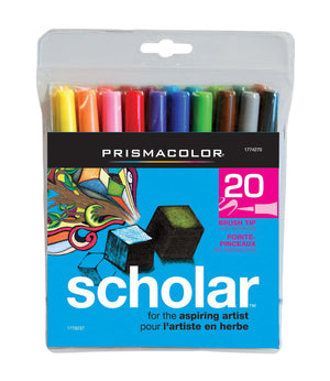 Prismacolor 20 Color Scholar Brush Marker Set