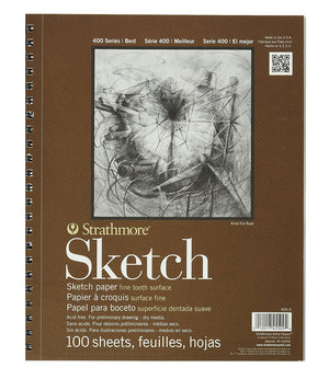Strathmore 300 Series Sketch Pad/100 Sheets (Various Sizes)