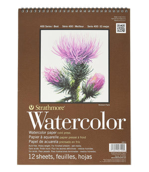 "Strathmore 400 Series Spiral Bound Watercolor Pad, 18"" x 24"", 12 Sheets/Pad"