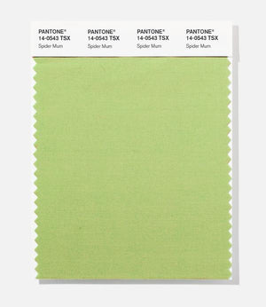 Pantone Polyester Swatch Card 14-0543 TSX Spider Mum