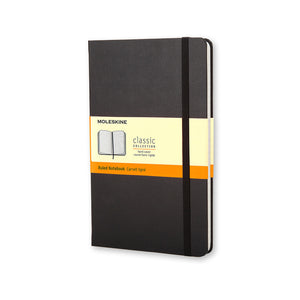 "Large Moleskine Notebook, 5"" x 8 1/4"", Black Cover (Various Styles)"