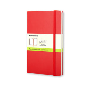"Pocket Moleskine Notebook  3-1/2"" x 5-1/2"", Red Cover (Various Styles)"