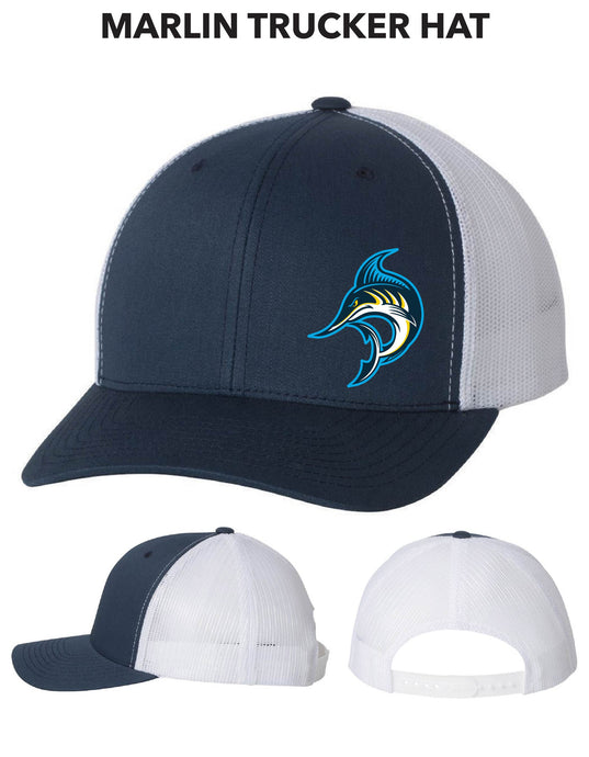 Snapback Trucker Hat - Marlin