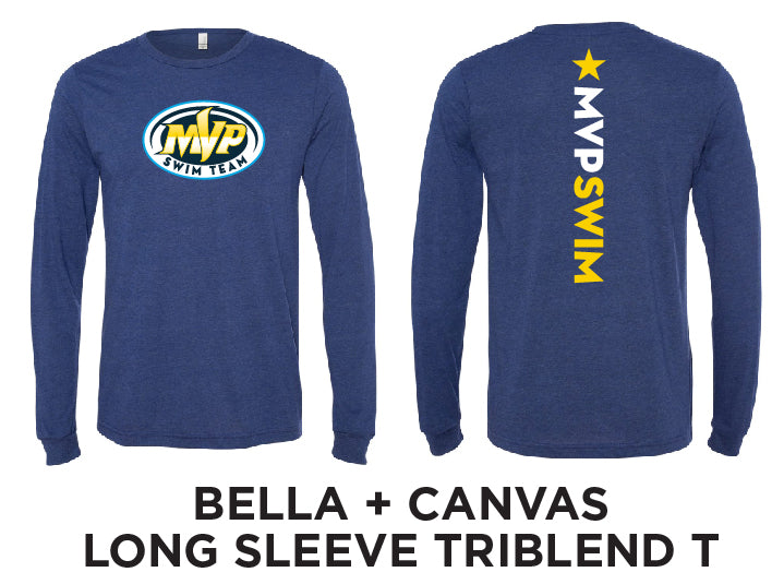 MVP Swim Long Sleeve TriBlend T - NEW