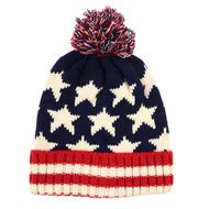 STARS AND STRIPES FLAG BEANIE