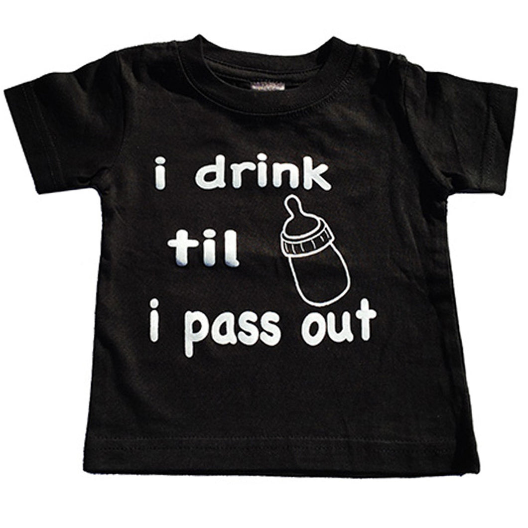 I DRINK TIL I PASS OUT BABY TEE - Trailsclothing.com