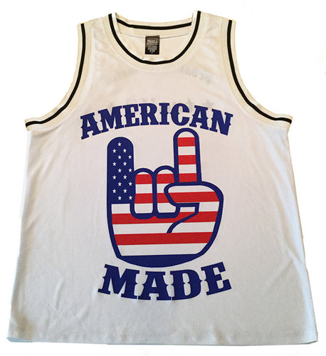 American made basketball jersey