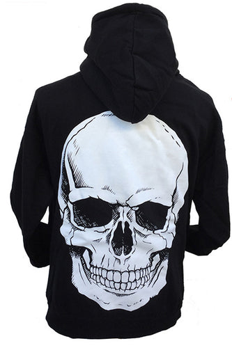 BIG SKULL ZIP UP HOODIE