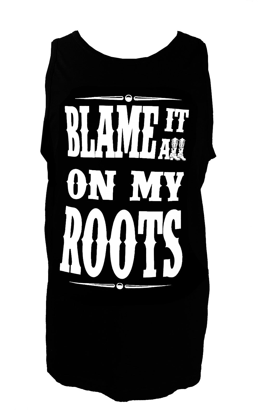 BLAME IT ON MY ROOTS MEN'S TANK - Trailsclothing.com