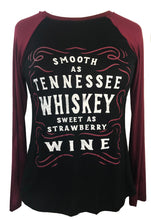 SMOOTH AS TENNESSEE WHISKEY LONG SLEEVE RAGLAN + free item - Trailsclothing.com