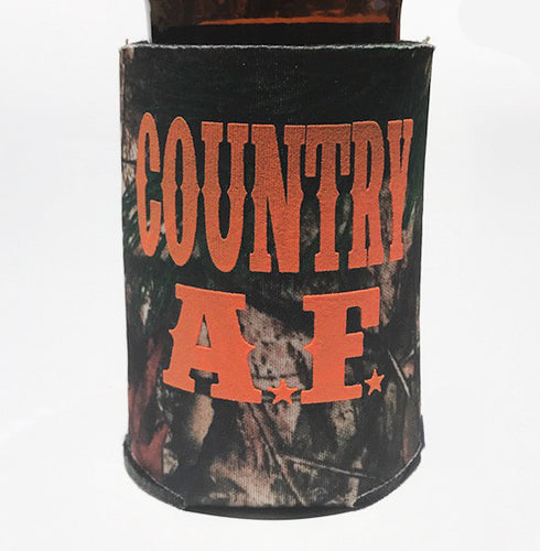 COUNTRY AF CAMO KOOZIE BEER HOLDER