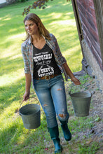 COWGIRLS DON'T CRY THEY RELOAD SHORT SLEEVE V NECK - Trailsclothing.com