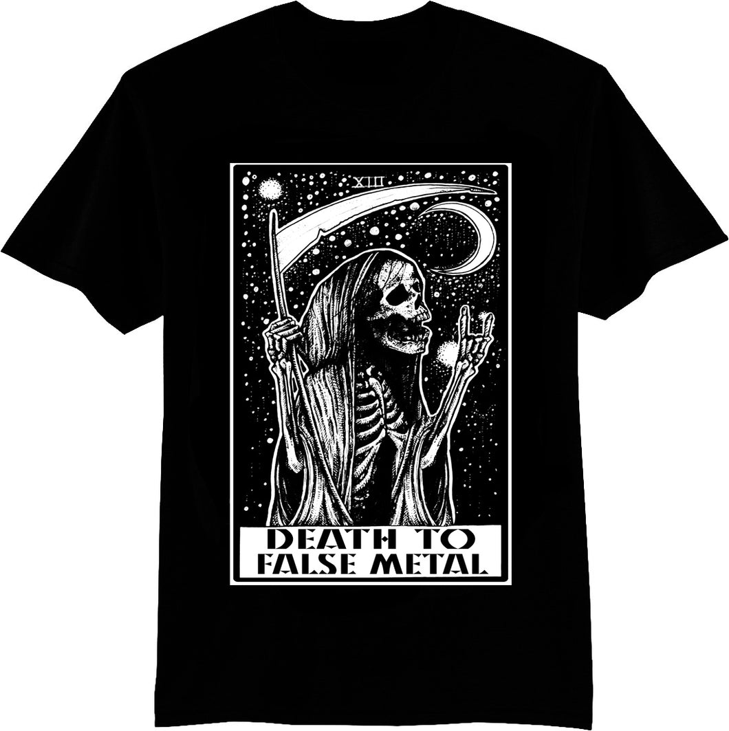 DEATH TO FALSE METAL GRIM REAPER MEN'S SHIRT - Trailsclothing.com