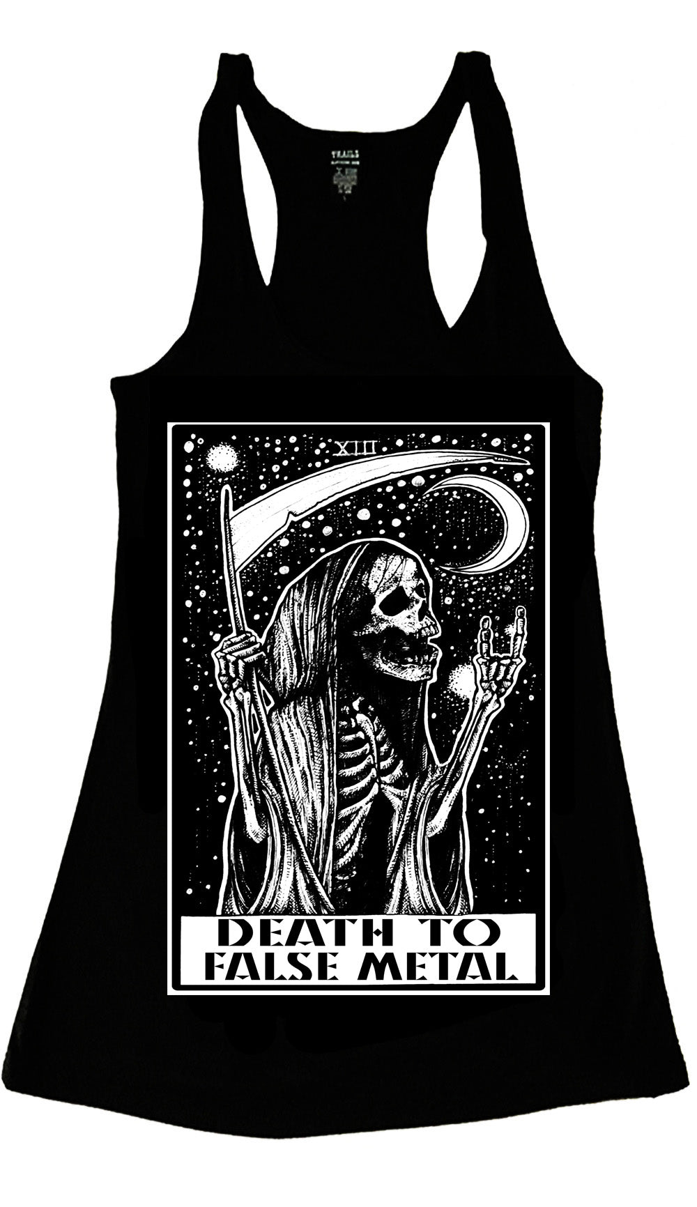 GRIM REAPER DEATH TO FALSE METAL TANK TOP - Trailsclothing.com
