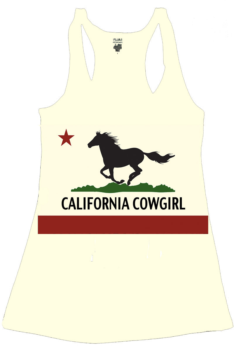FLAG CALIFORNIA COWGIRL TANK TOP