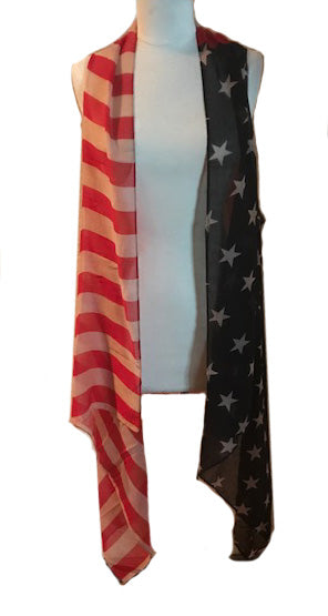 ANTIQUE AMERICAN FLAG KIMONO - Trailsclothing.com