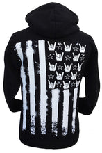FLAG HANDS AND STRIPES HOODIE ZIP UP + free gift - Trailsclothing.com