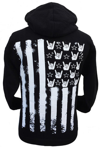 FLAG HANDS AND STRIPES HOODIE