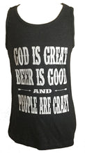 GOD IS GREAT BEER IS GOOD AND PEOPLE ARE CRAZY MENS TANK - Trailsclothing.com