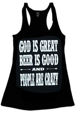 GOD IS GREAT BEER IS GOOD TANK TOP + free gift - Trailsclothing.com