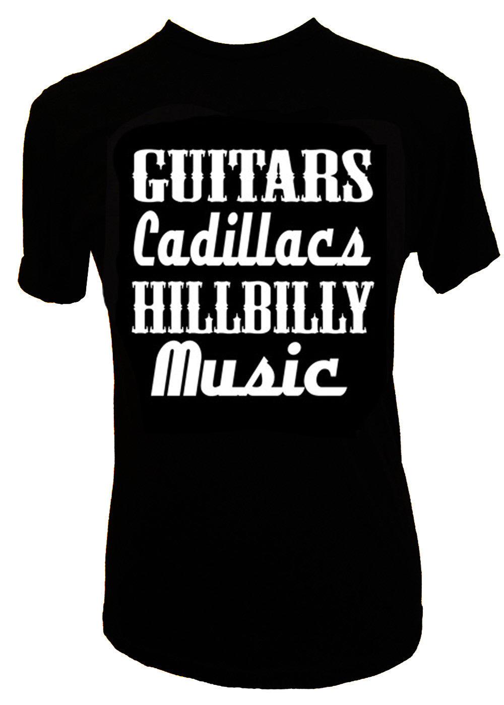 GUITARS CADILLACS HILLBILLY MUSIC MEN'S T-SHIRT