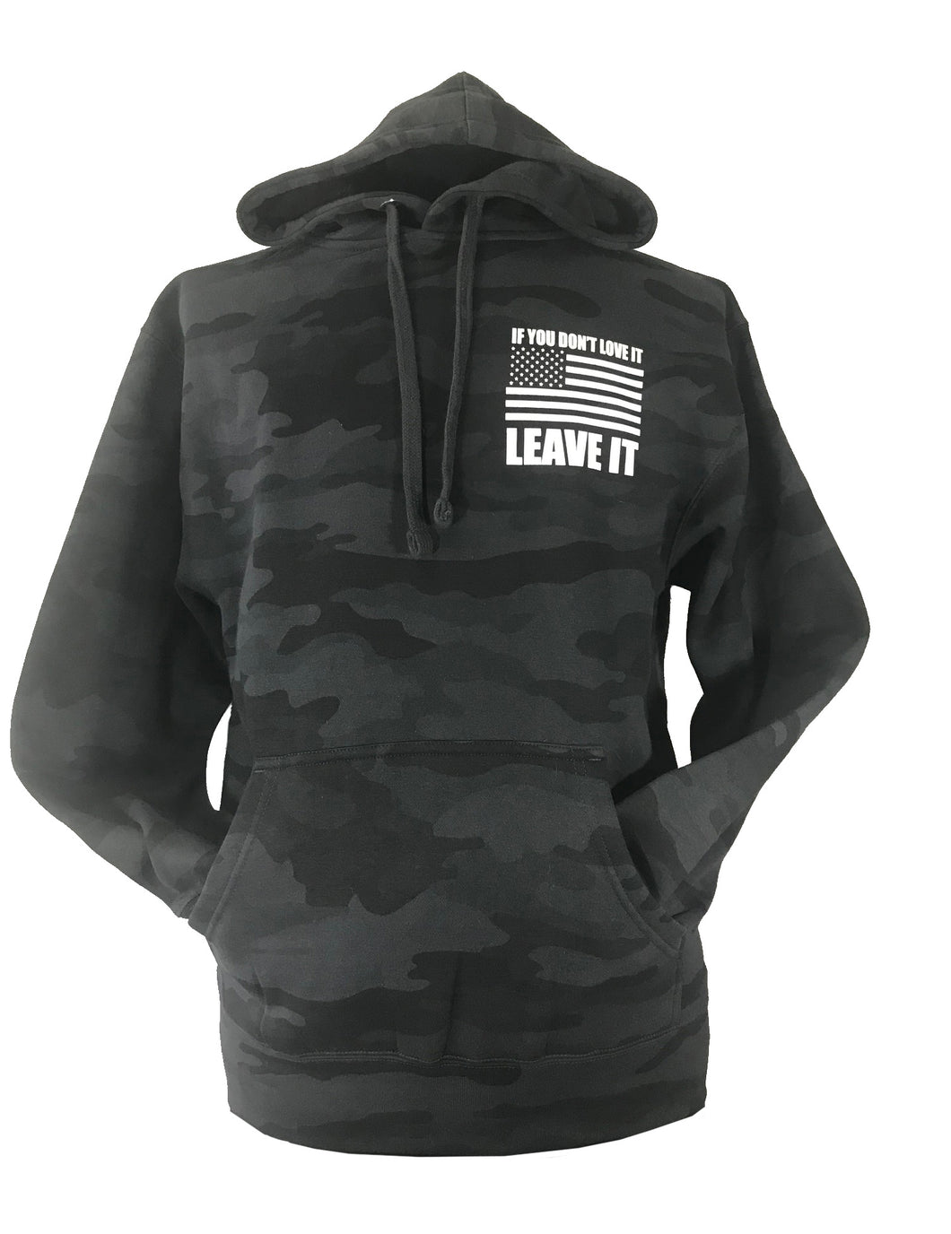 if you don't love it leave it grey camo hoodie