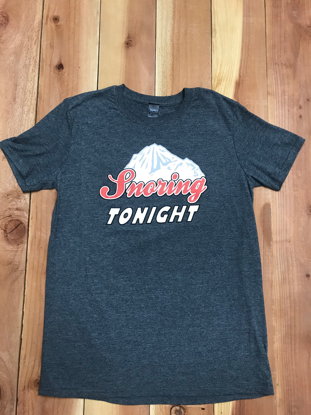 SNORING TONIGHT MENS TEE - Trailsclothing.com