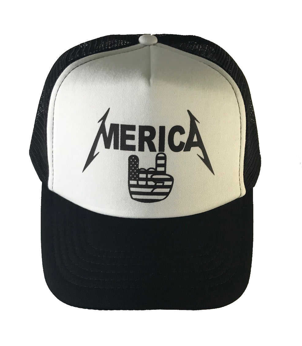MERICA HAND TRUCKER HAT - Trailsclothing.com