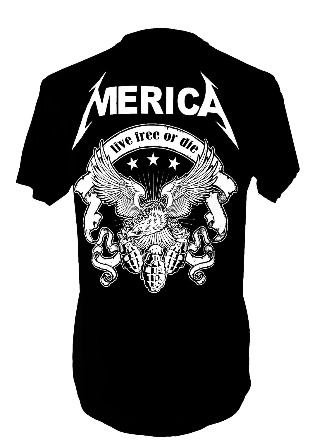 MERICA LIVE FREE OR DIE MEN'S TEE - Trailsclothing.com