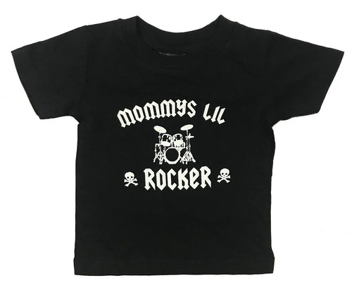 MOMMYS LIL ROCKER BABY AND YOUTH T SHIRT