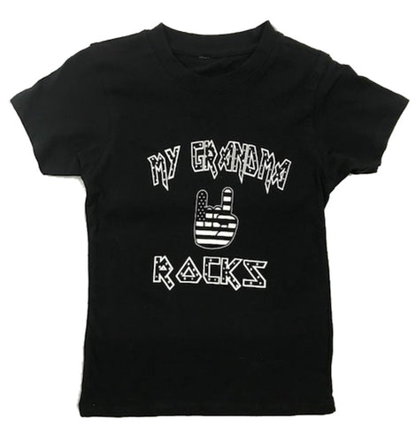 MY GRANDMA ROCKS STARS BABY AND YOUTH TEE SHIRT - Trailsclothing.com