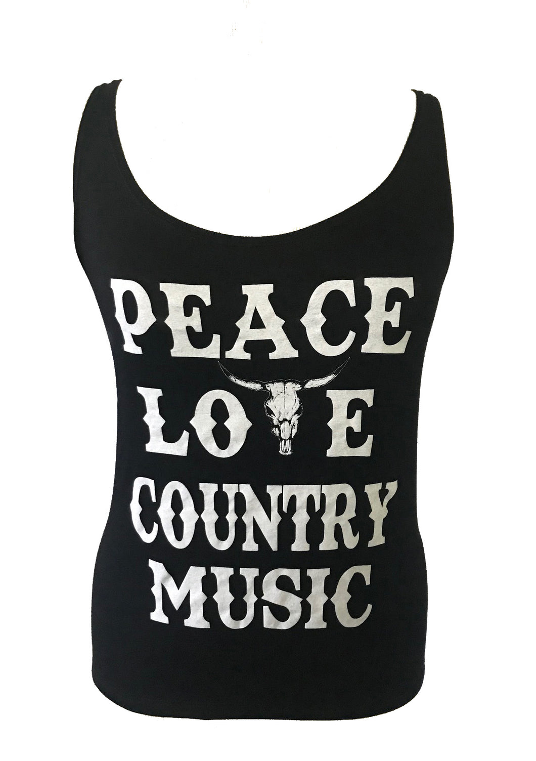 PEACE LOVE COUNTRY MUSIC TANK TOP - Trailsclothing.com