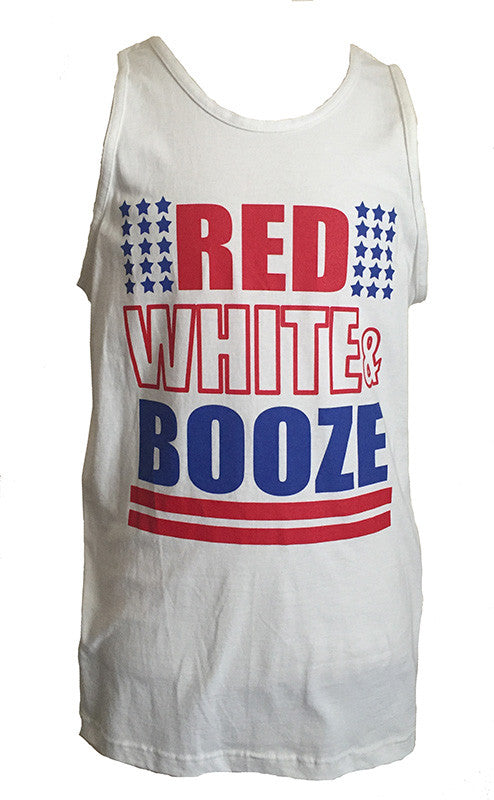 RED WHITE AND BOOZE MEN'S TANK - Trailsclothing.com
