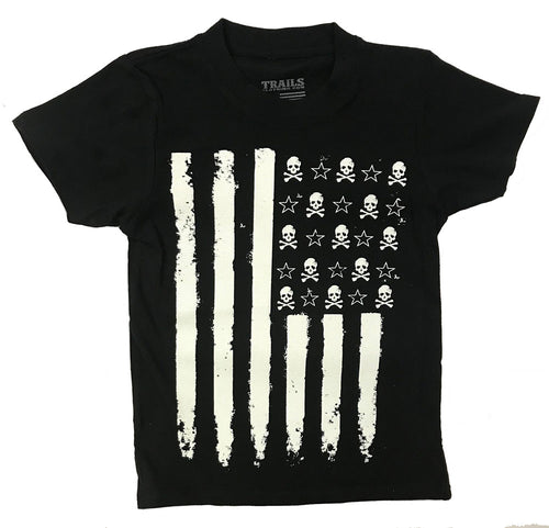 ROCK N ROLL FLAG YOUTH TEE - Trailsclothing.com