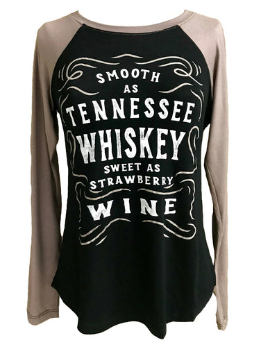 SMOOTH AS TENNESSEE WHISKEY LONG SLEEVE RAGLAN - Trailsclothing.com