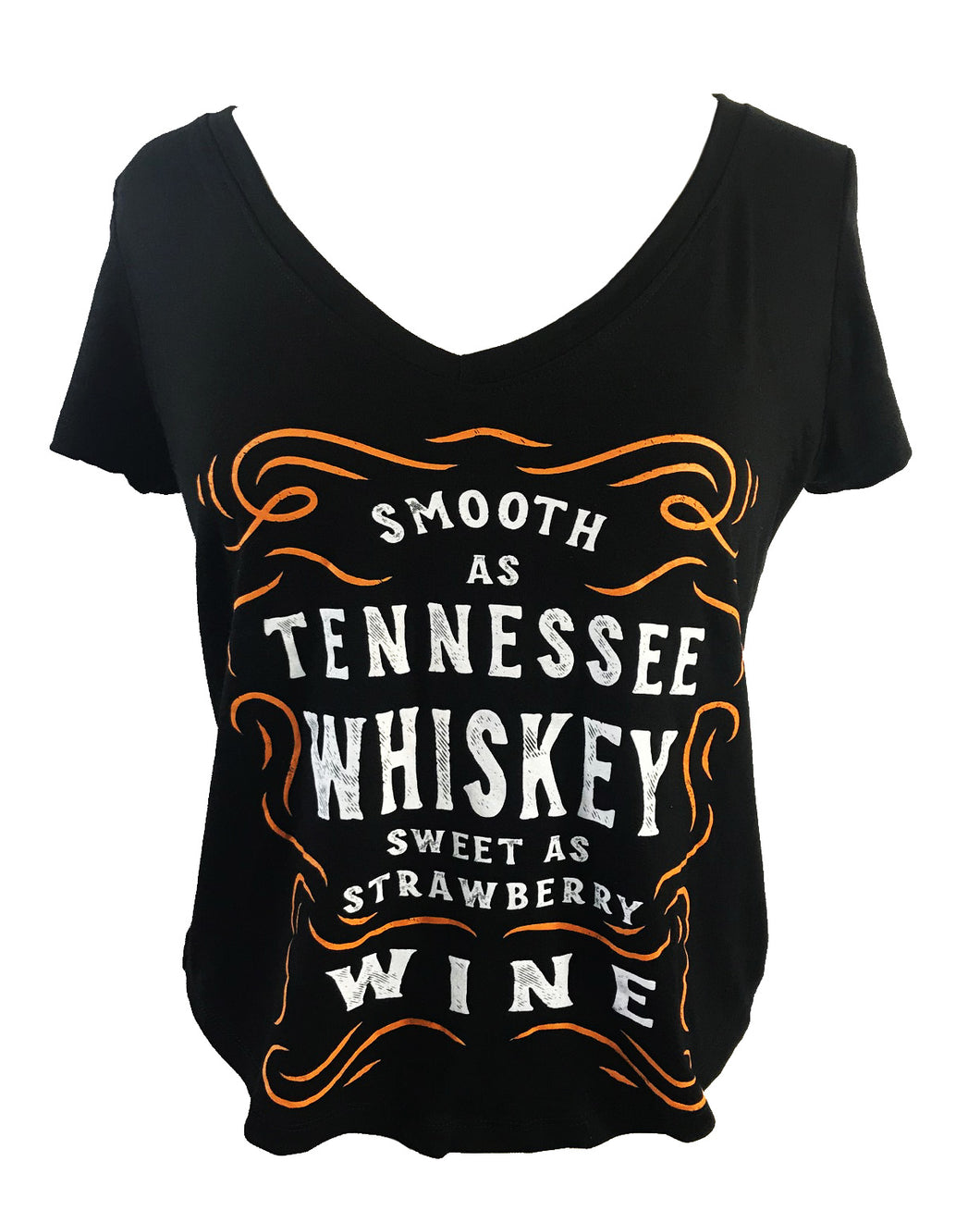 SMOOTH AS TENNESSEE WHISKEY SHORT SLEEVE V NECK - Trailsclothing.com