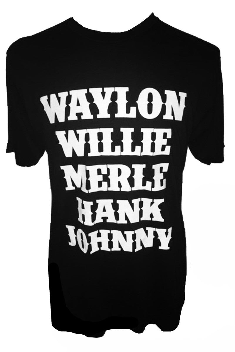 WAYLON WILLIE MERLE HANK JOHNNY TEE - Trailsclothing.com