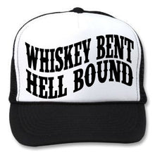 WHISKEY BENT AND HELL BOUND TRUCKER HAT - Trailsclothing.com