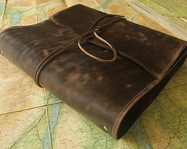 A4 Leather Ring Binders - Wraparound