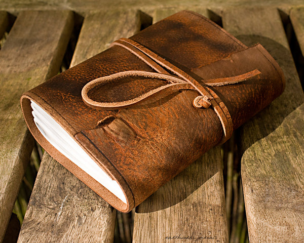 A6 Standard Leather Wraparound Journals