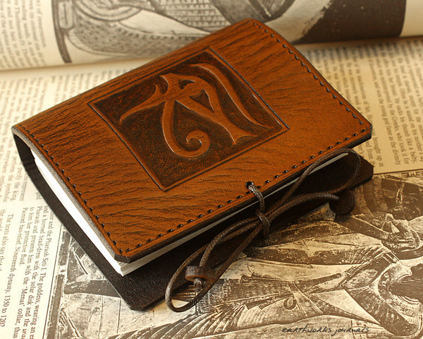 A7 Pocket Leather Journals - Tooled Designs