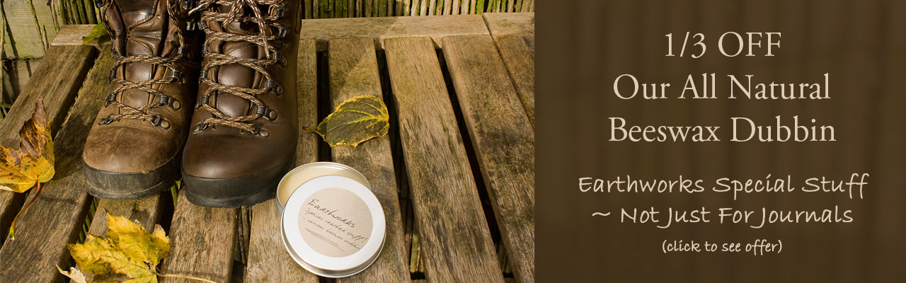 earthworks special stuff - all natural beeswax dubbin - earthworks journals